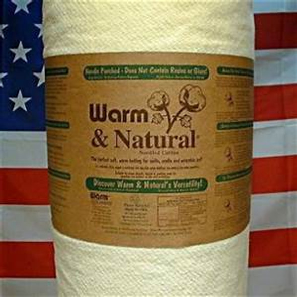 Warm & Natural Cotton Quilt Batting by the roll