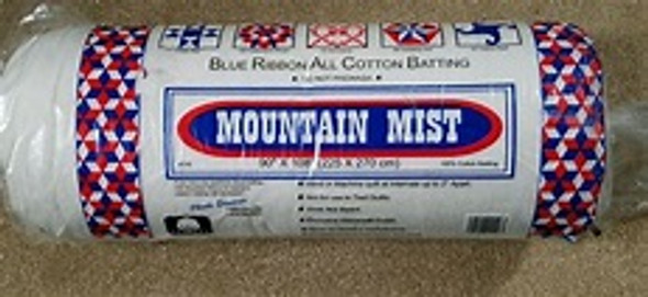 Mountain Mist Blue Ribbon 100% Cotton Quilt Batting