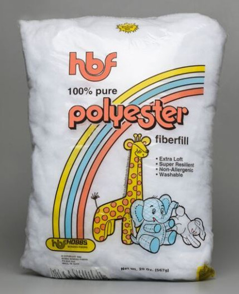 HBF Polyester Fiberfill 12 oz bag - 20 oz bag - 25 lb bale