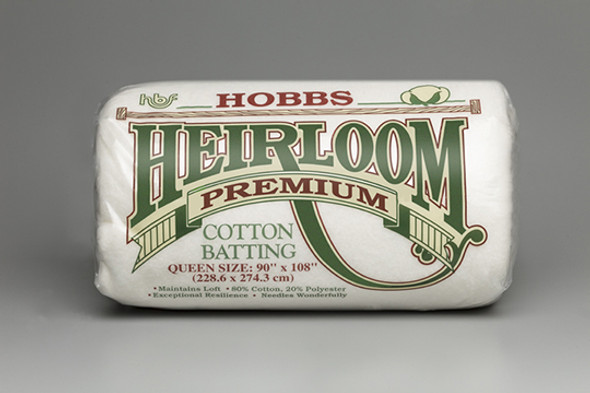 Hobbs Heirloom Premium 80/20 Cotton/polyester Quilt Batting Assorted Case  (1) King 120, (1) Queen 90,  (1) Twin 72, (2) Craft 45