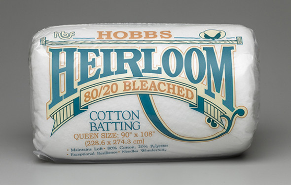Hobbs Heirloom 8020 Bleached Cotton Polyester Quilt Batting