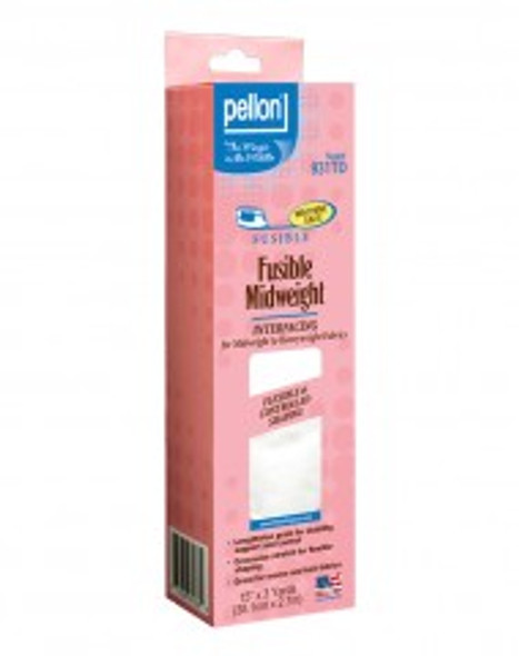 Pellon® 931TD Fusible Midweight is a non-woven, fusible interfacing package