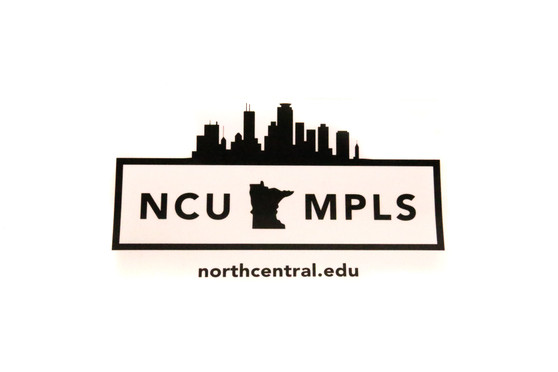 Black NCU MPLS. The white version of this sticker is called White NCU MPLS. Not pictured.