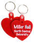 Heart Shaped Miller Hall Keychain