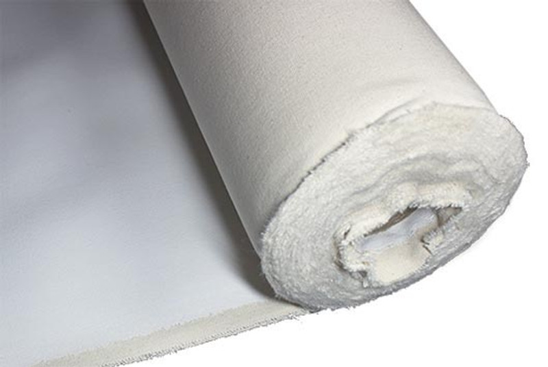 "Short Double Primed Canvas Roll 8oz 60"" (1.55m x 6m)"
