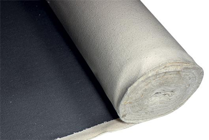 "Short Black Gesso Primed Canvas 15oz 60"" (1.55m x 6m)"
