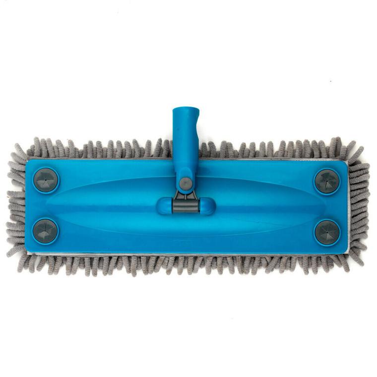 Click and Connect Flat Microfibre Chenille Mop Head