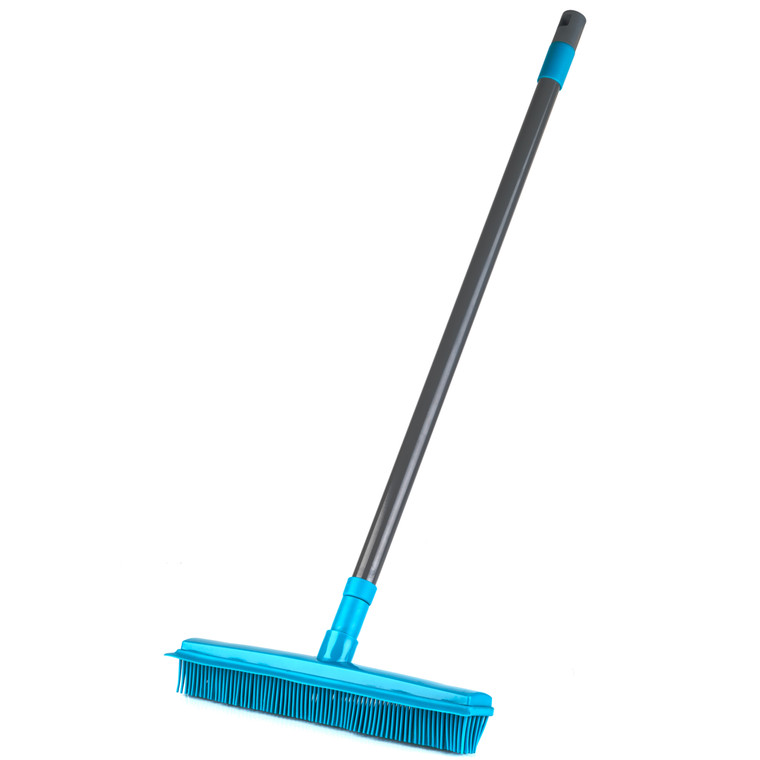 Rubber Head Brush, Turquoise, Extendable Microfibre Duster