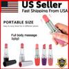 Lipstick Style Female Personal Relaxing Massager Mini Vibrating Massage Vibrator