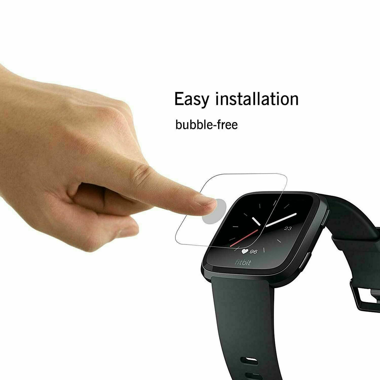 2 Pack For Fitbit Versa & Versa Lite Tempered Glass Screen Protector Saver 9HD