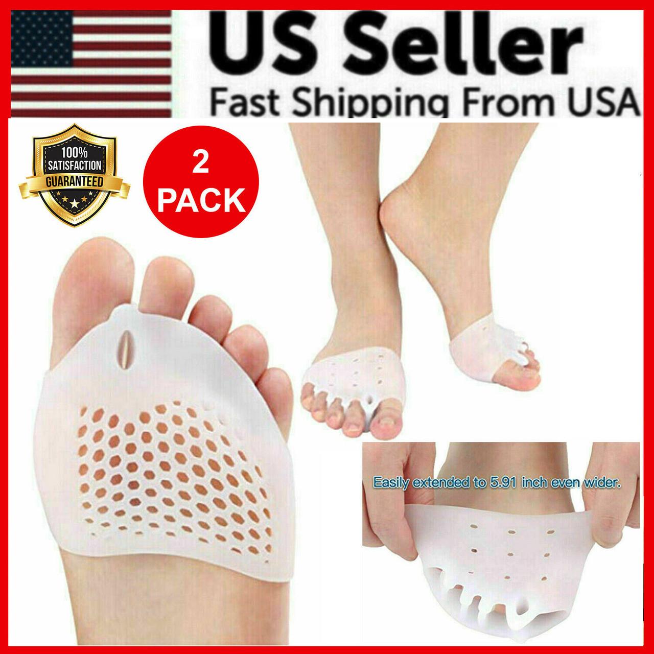 2PCS Silicone Bunion Toe Corrector Orthotics Straightener Separator Pain Foot