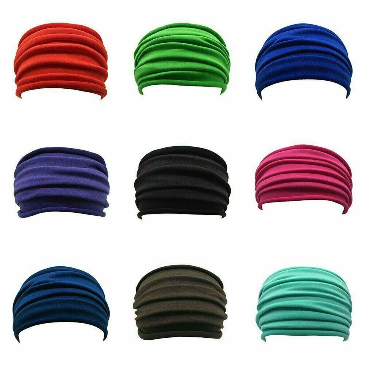 Elastic Stretch Wide Headband Hairband Running Yoga Turban Women Soft Head Wrap