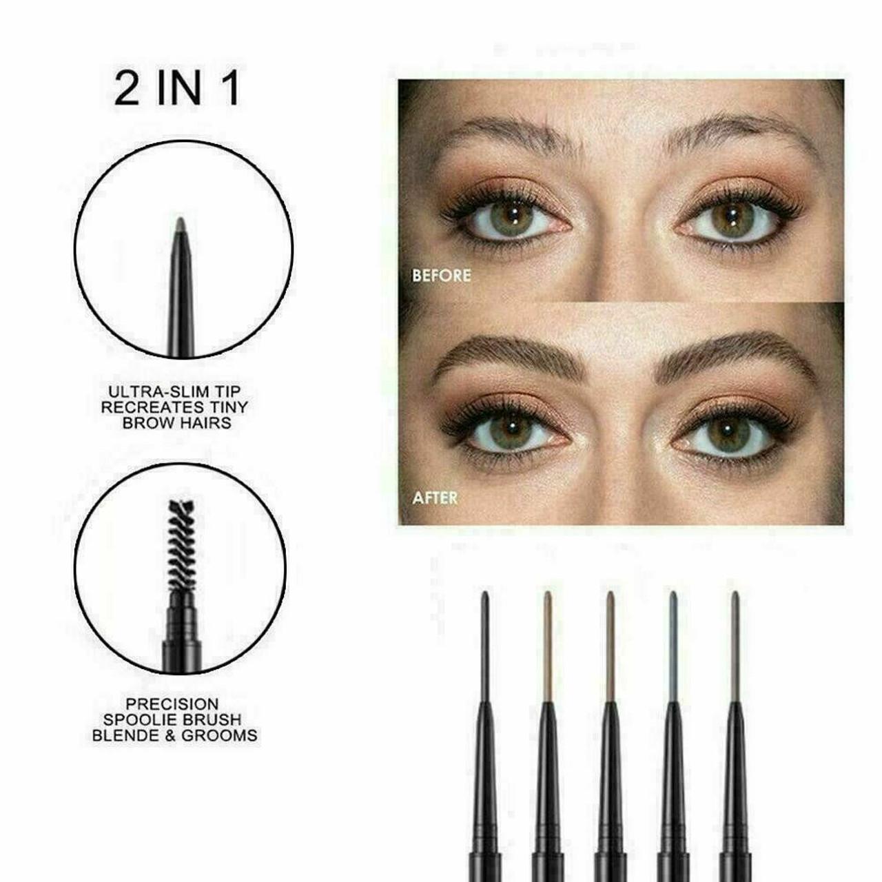 Waterproof Microblading Eye Brow Eyeliner Eyebrow Pen Pencil Brush Makeup Tools