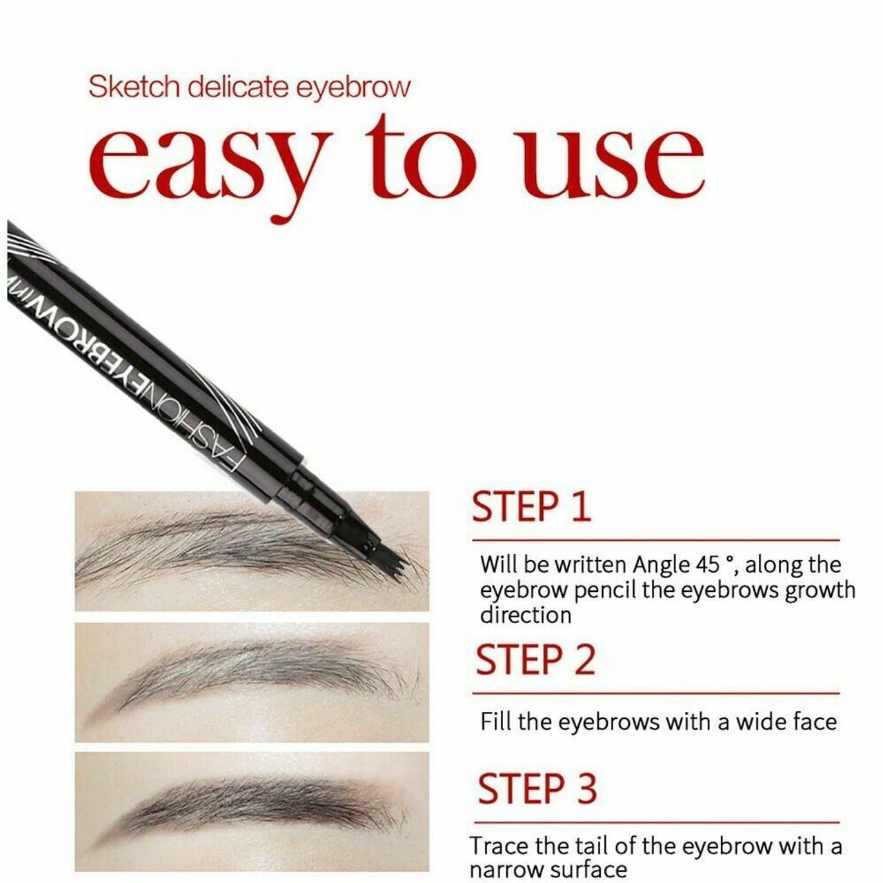 Microblading Tattoo Eyebrow Ink Pen Long Lasting Eye Brow 3D Fork Makeup Pencil
