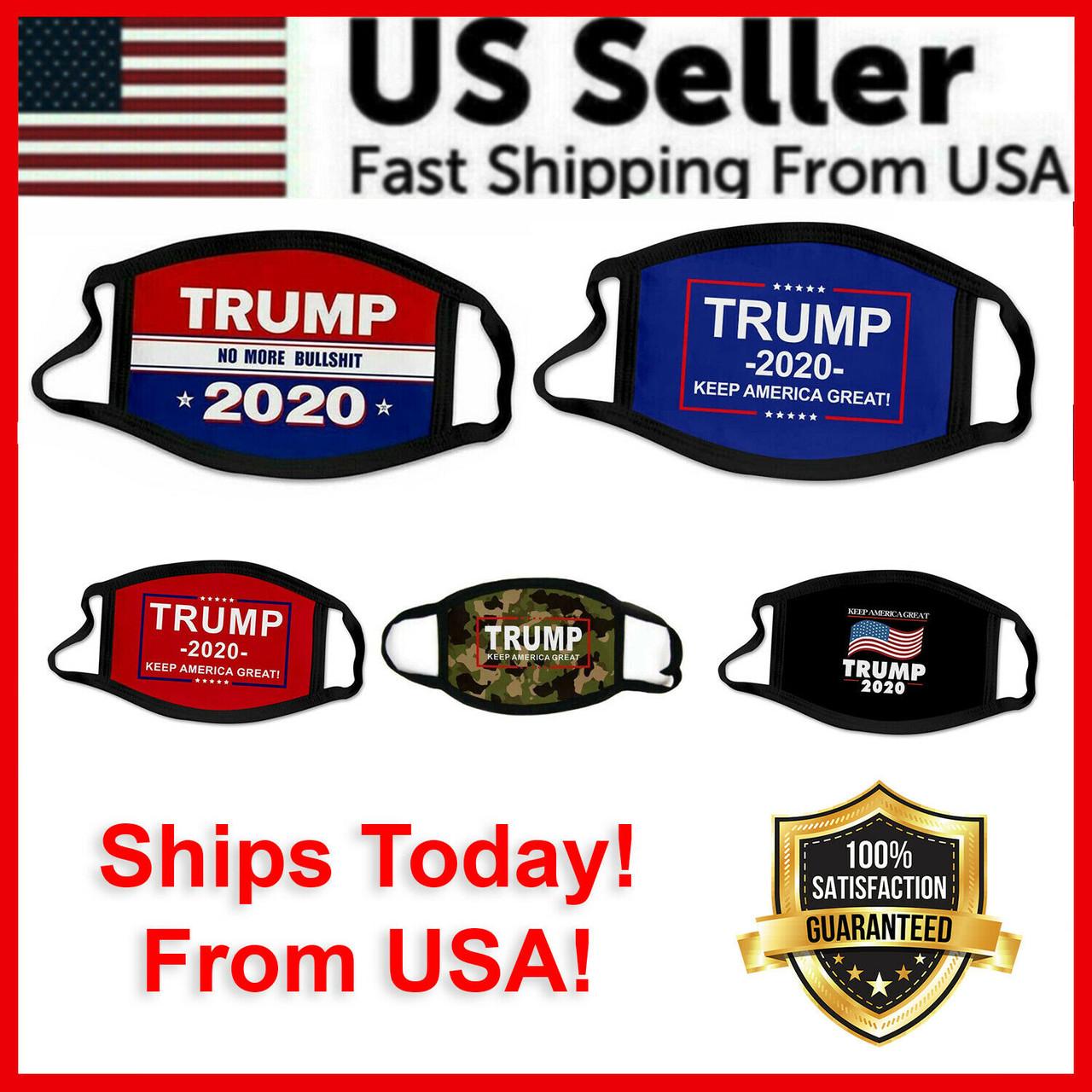 Trump 2020 Face Mask Protection MAGA Keep America Great Trump Face Reusable