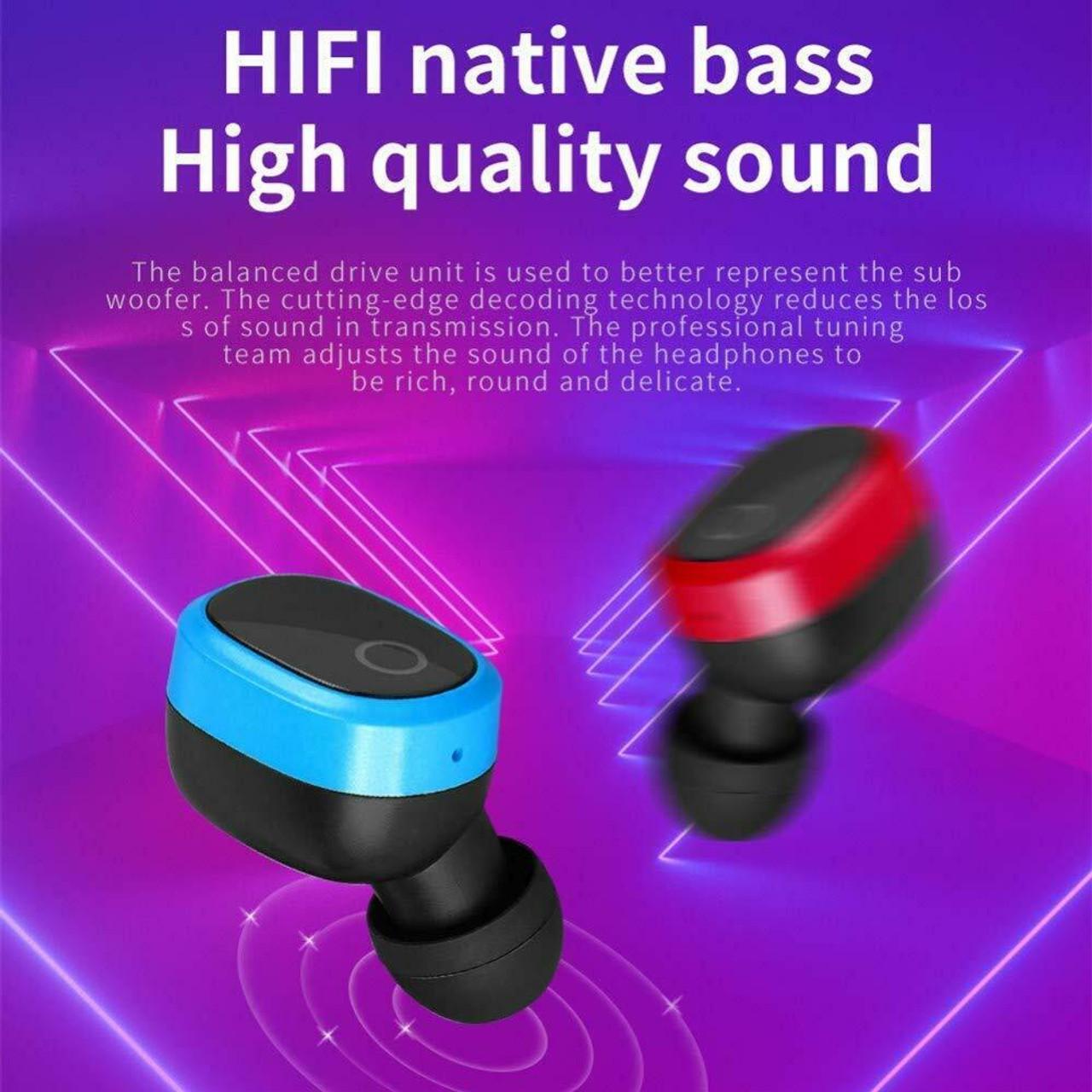 Bluetooth 5.0 True Wireless Earbuds Sports Headsets Stereo Headphones Waterproof