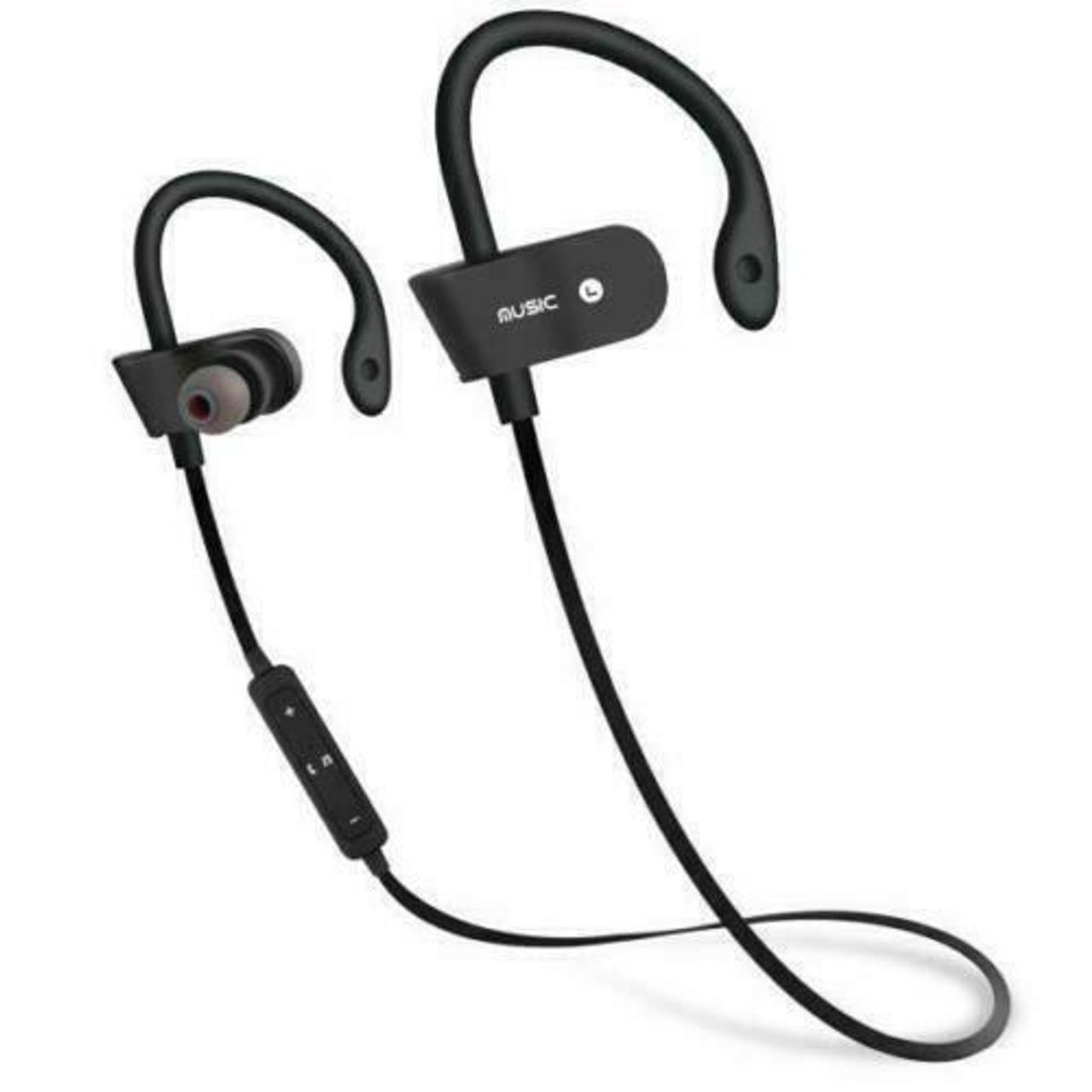 Sweatproof Bluetooth Headset Wireless Sport Stereo Headphones Earphone Earbuds