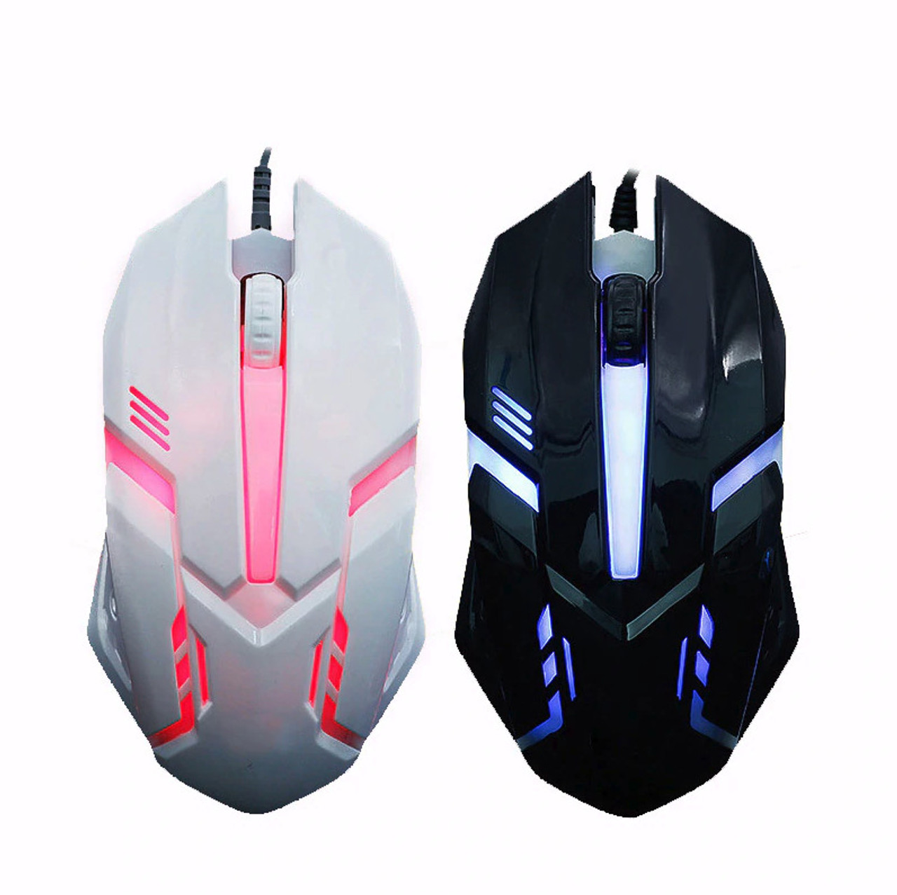 Gaming Mouse 3 Button USB Wired LED Breathing Fire Button 3200 DPI Laptop PC USA