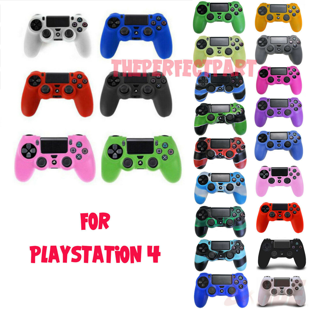 Silicone Rubber Skin Cover Protective Gel Case for Playstation 4 PS4 Controller