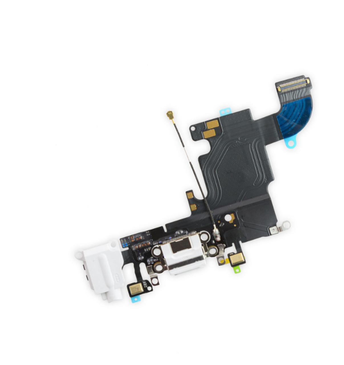 OEM SPEC White Charging Port Headphone Jack Mic Audio Flex Cable For iPhone 6S