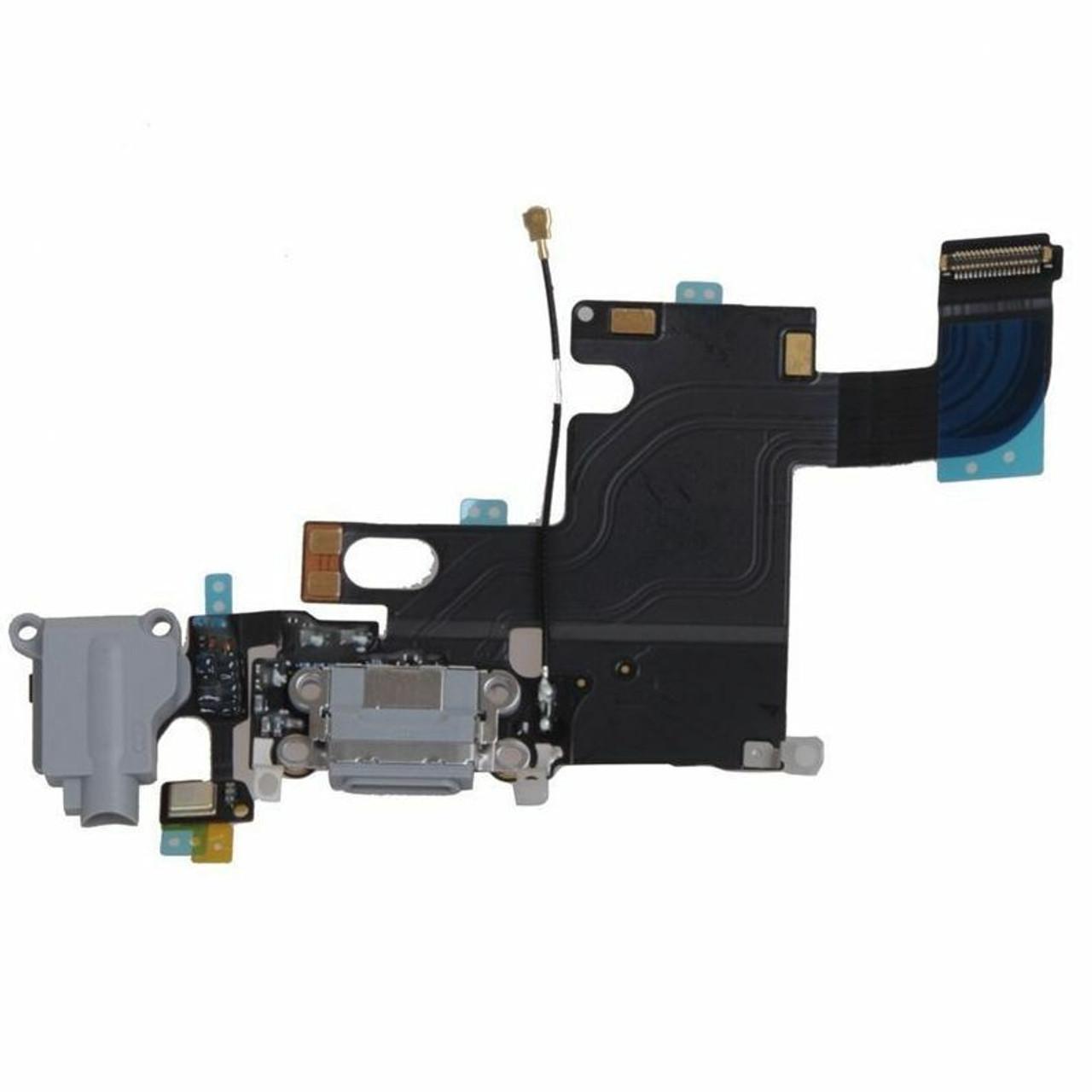 OEM SPEC Gray Charging Port Headphone Jack Audio Flex Cable For iPhone 6 4.7''
