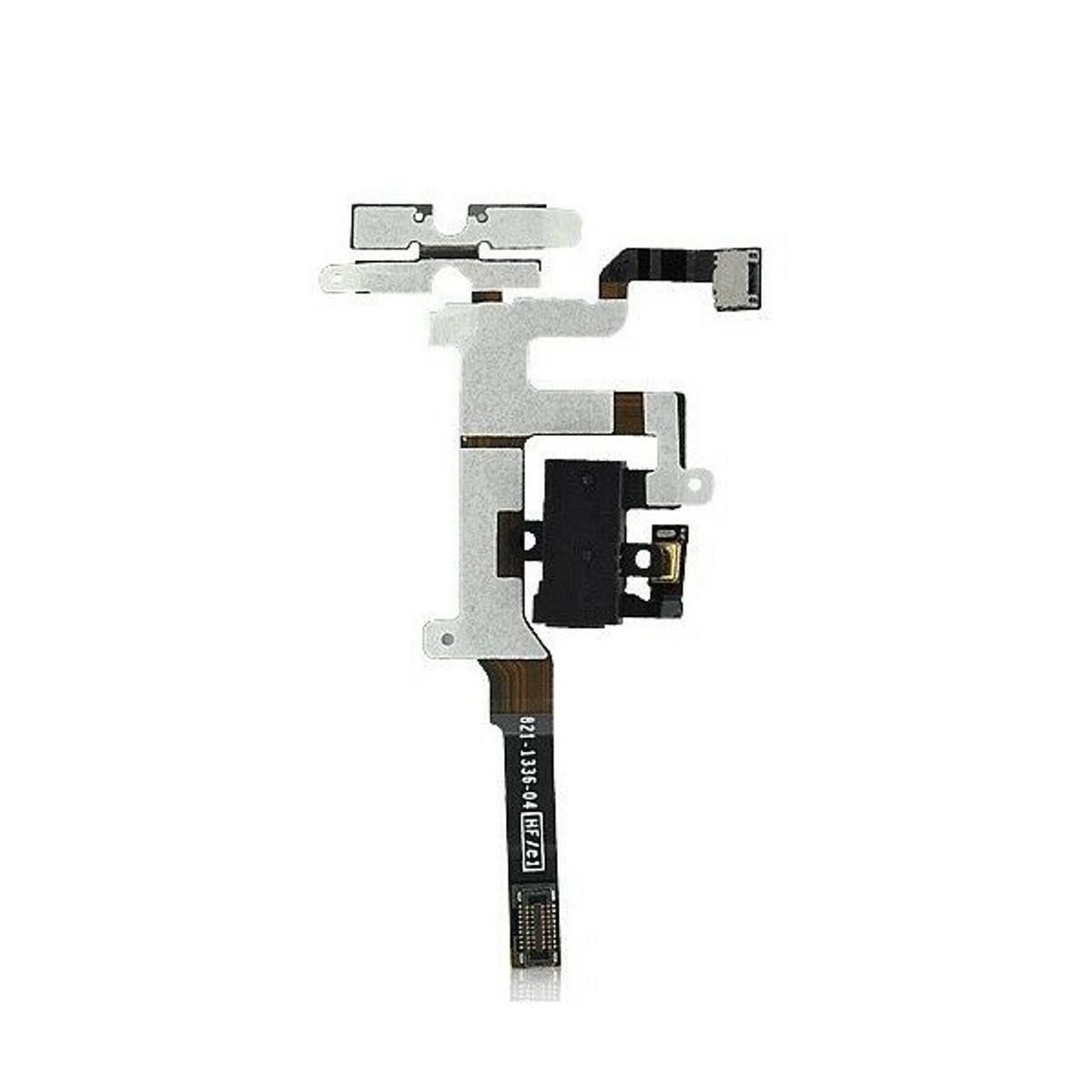 OEM SPEC Headphone Audio Volume Jack Connector Flex Black For iPhone 4S 4GS USA