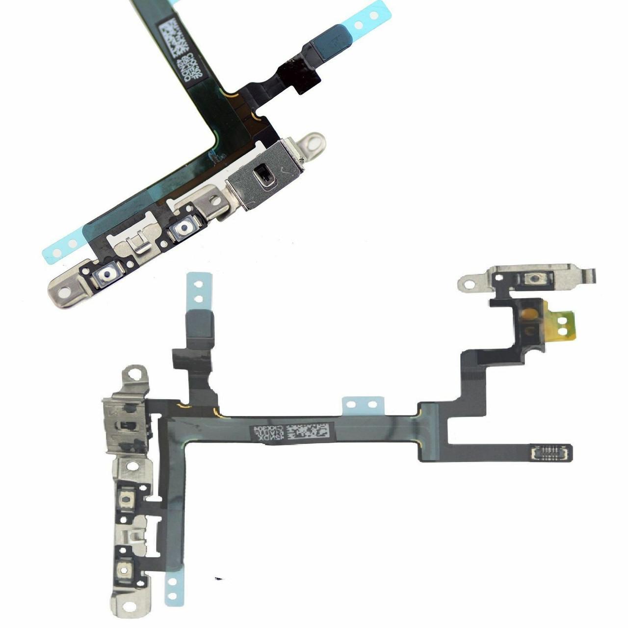 OEM SPEC Power Button Volume Mute Button Flex Cable Metal Bracket For iPhone 5