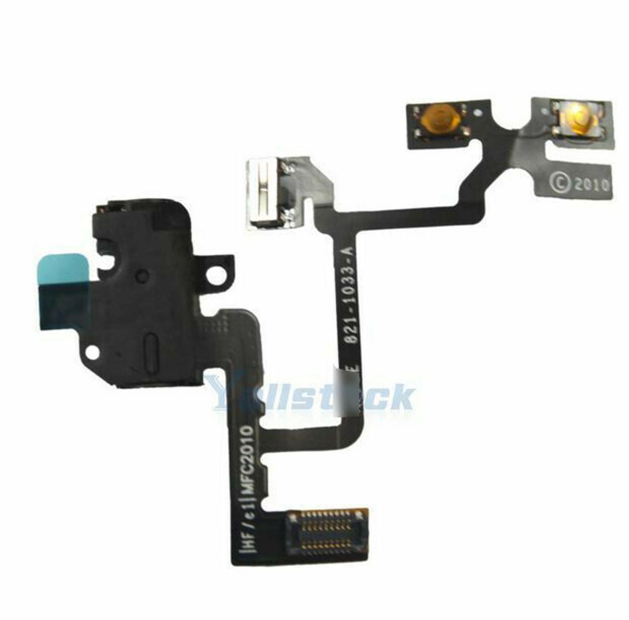 OEM SPEC Black Headphone Audio Jack Volume Switch Flex Cable For iPhone 4 4G GSM