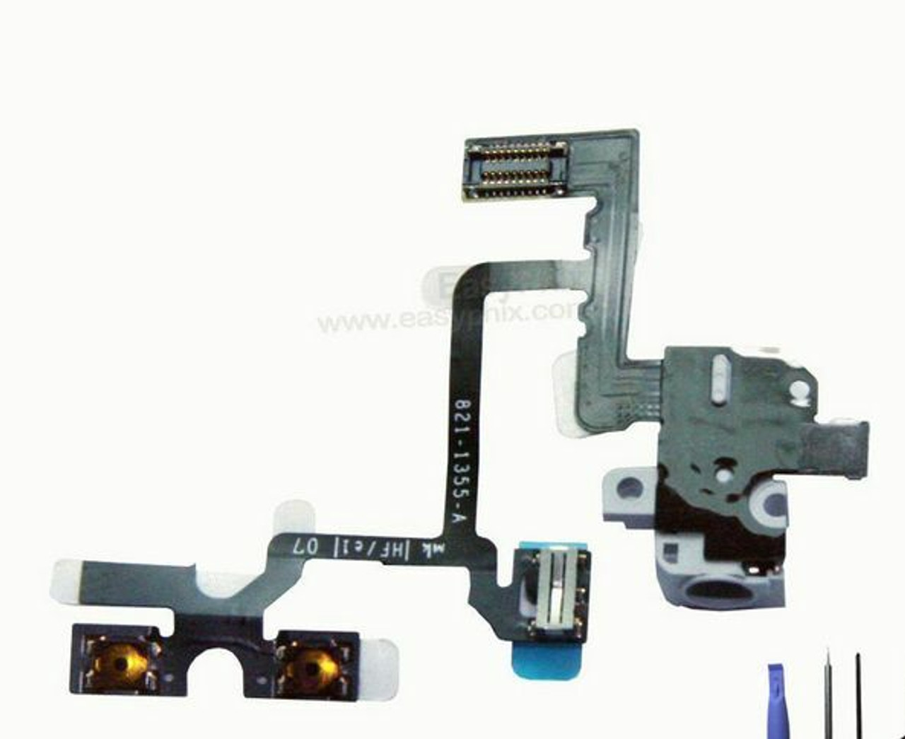 OEM SPEC White Headphone Audio Jack Volume Switch Flex Cable For iPhone 4 4G GSM