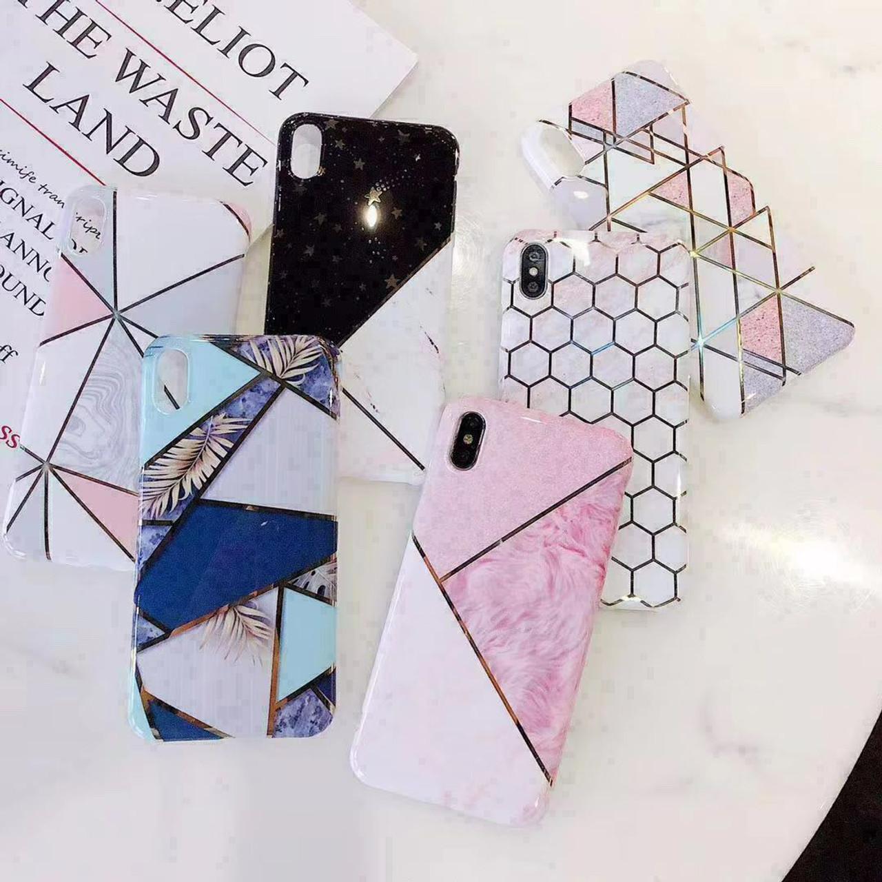 For iPhone 11 Pro XS MAX XR Mini 8 7 Plus Cute Glitter Marble Case Cover Slim US