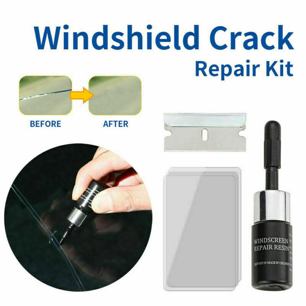 5-Pack Auto Glass Nano Repair Fluid Car Windshield Resin Crack Tool Kit Crack US
