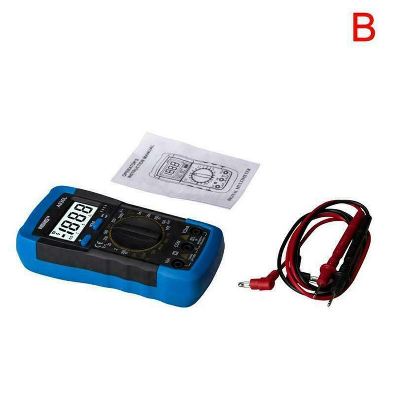 Digital Multimeter AC DC Voltmeter Ammeter Ohmmeter Volt Tester Meter XL830L USA
