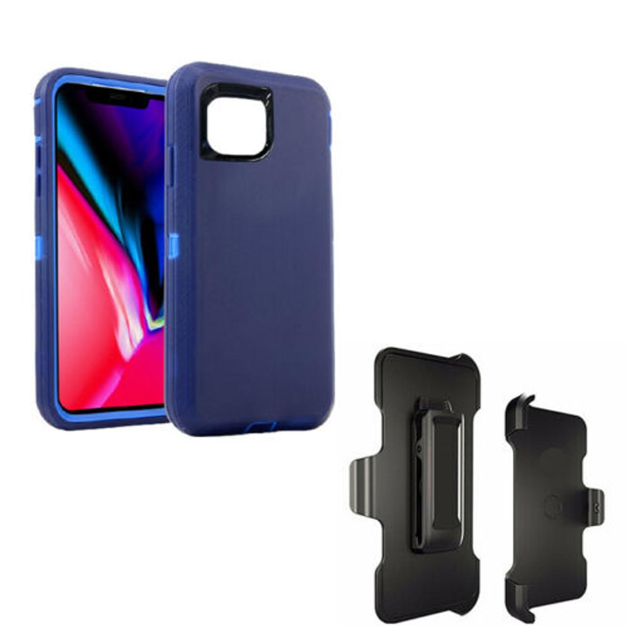 For iPhone 12 Mini 12 Pro Max Shockproof Defender Case Stand & Belt Clip Holster