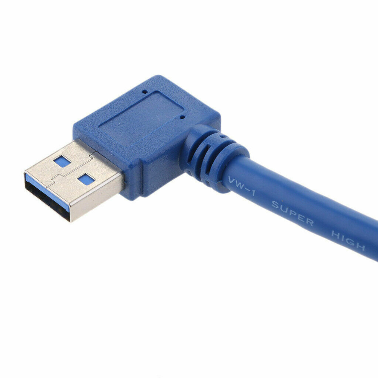 USB 3.0 Right Angle Male to USB 3.0 Female Extension Cable 1 FT Super Speed FAST