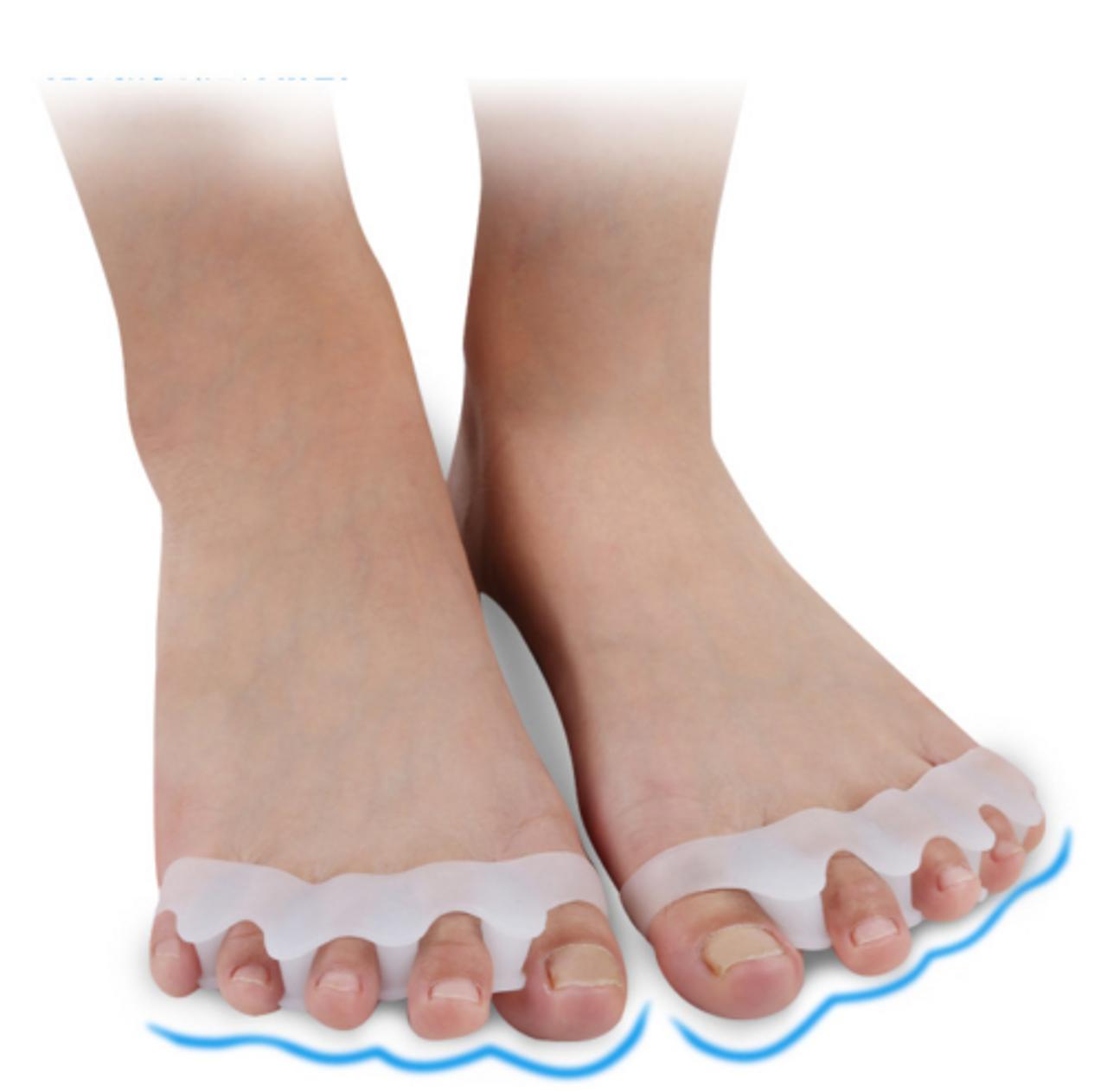 2PC Bunion Corrector Silicone Toe Separator Straightener Orthopedic Toes Spacer