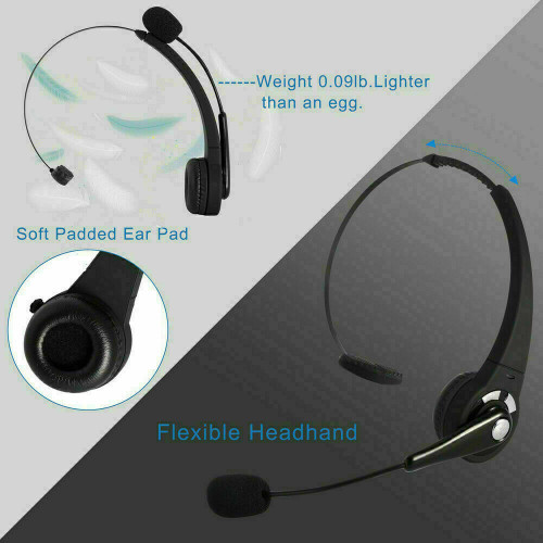 Wireless Bluetooth Headset Headphone Mic Headphones For PC Xbox One Sony PS4 PS5