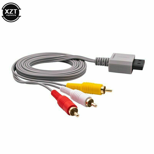 Audio Video TV AV Composite 3 Component RCA Cable Cord Plug For Nintendo Wii & U