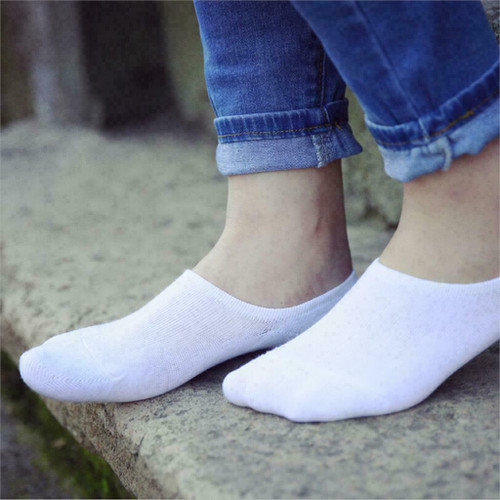 3-12 Pairs Men Invisible No Show Nonslip Loafer Low Cut Solid Cotton Socks 9-13