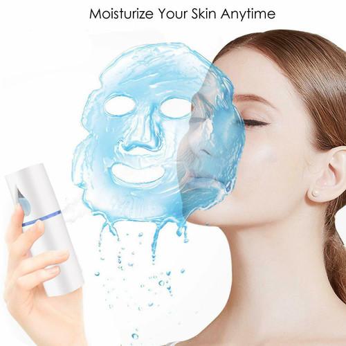 USB Face Hydration Sprayer Facial Mister Handy Cool Mini Mist Spray Machine Nano