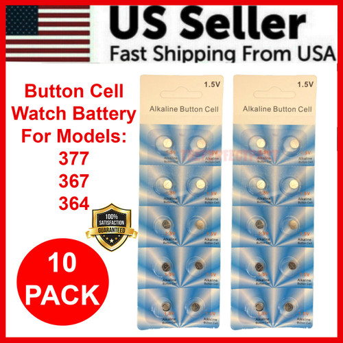 10 x OEM SPEC 377 376 364 363 WATCH BATTERY SR626SW SR626W Silver Oxide Battery