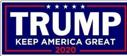 1 PC Trump Bumper Sticker 2020 President Campaign Keep America Great MAGA Decal