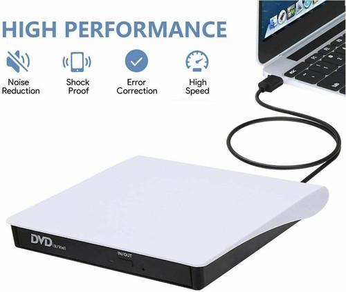 Slim External CD DVD Drive USB 3.0 Disc Player Burner Writer for Laptop PC Mac