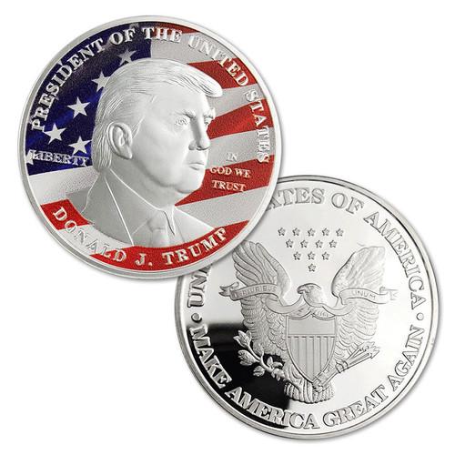 Donald Trump President SILVER OFFICIAL Dollar Commemorative Challenge Eagle Coin