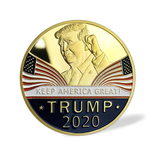 Donald Trump 2020 Keep America Great Commemorative Challenge Eagle Coin POTUS