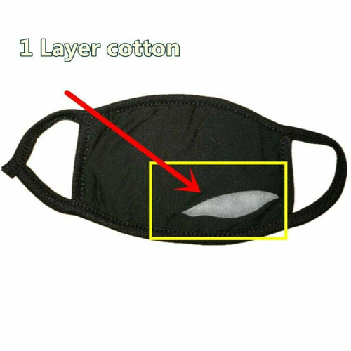 10 PCS Face Mask Washable Black Fashion Reusable Breathable Unisex Double Layer