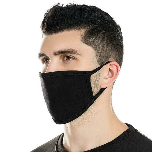 50 PCS Face Mask Black Fashion Washable Reusable Breathable Unisex Double Layer