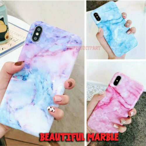 Slim Fit Thin Cute Marble Case Protective Cover For iPhone X Xs Max XR 7 8 Plus