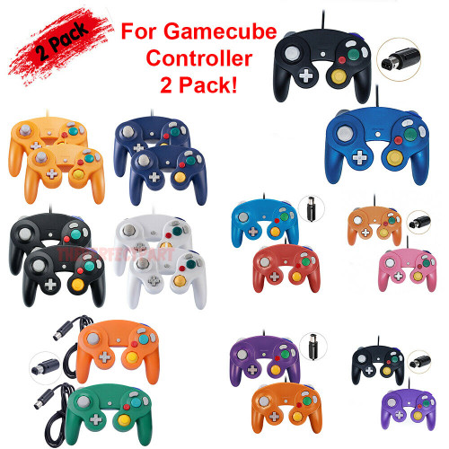2 Pack Wired NGC Controller Gamepad for Nintendo GameCube GC & Wii U Console USA