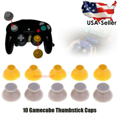 For 10 Gamecube Thumbstick Caps Replacement Controller Joystick Rubber - 5 Sets