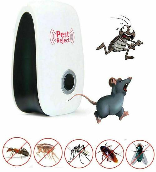 Pest Reject Pro Ultrasonic Repeller Home Bed Bug Mites Spider Defender Roaches